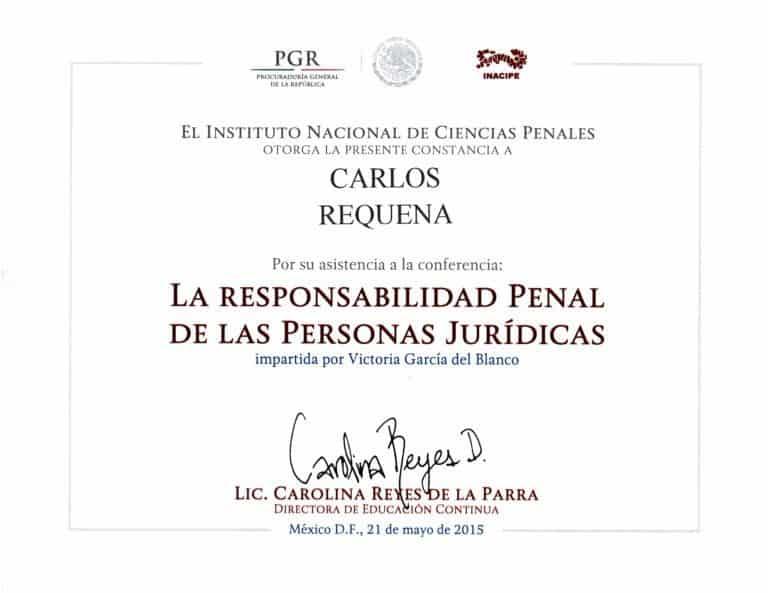 Carlos Requena | Abogado Penalista | La Responsabilidad Penal de las Personas Jurídicas