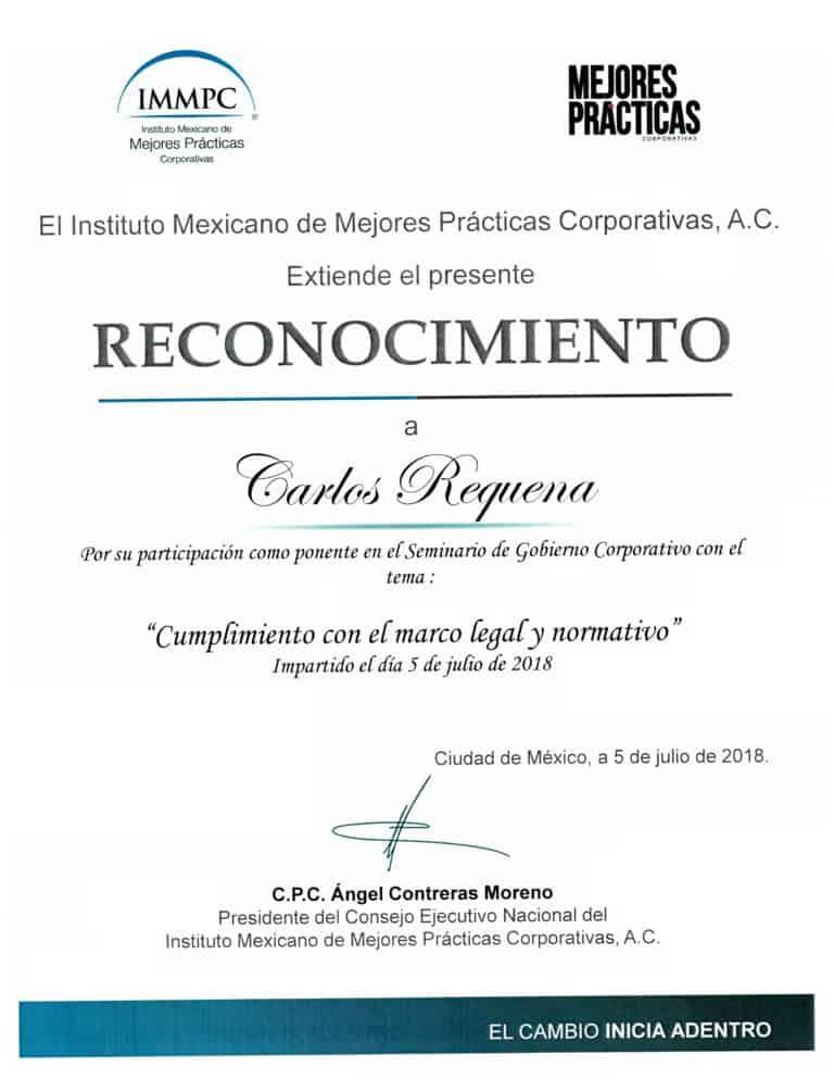 Cumplimiento con el Marco Legal y Normativo Gobierno Corporativo | IMMPC | #CompliancePenal #ResponsabilidadPenaldeEmpresa #LeyesParaTuBien #AbogadoCarlosRequena