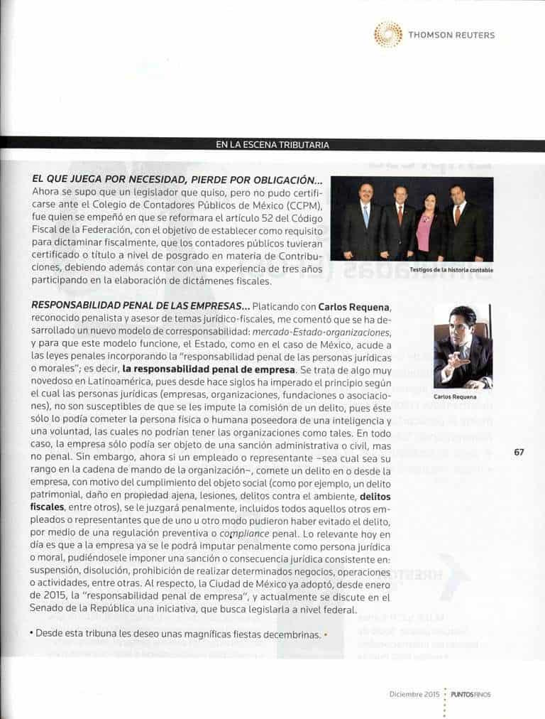 Carlos Requena | Abogado Penalista | Revista Puntos Finos