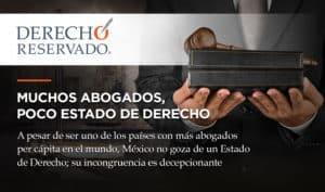 Derecho Reservado Muchos Abogados poco Estado Derecho Carlos Requena