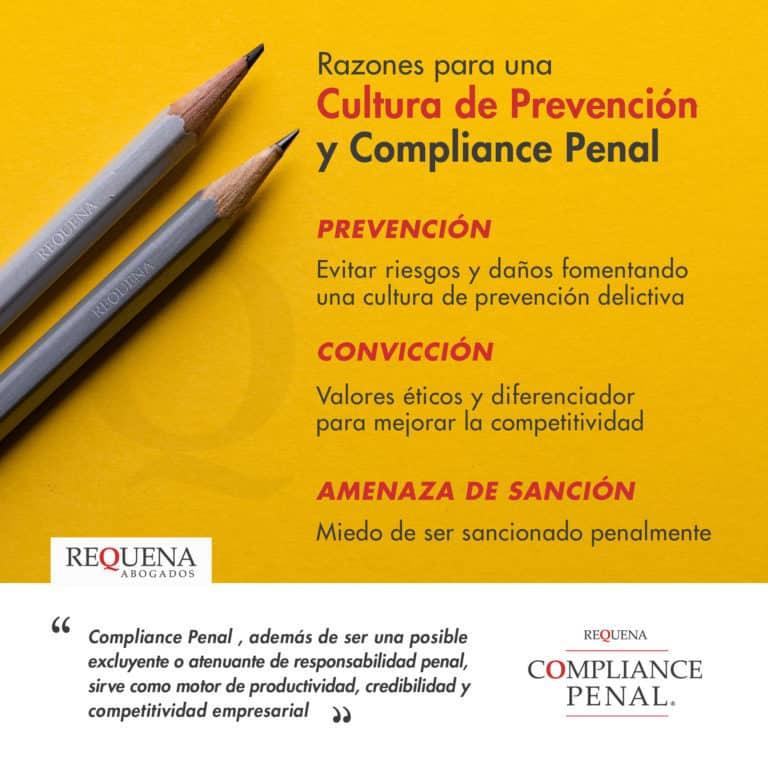 Cultura de Prevención y Compliance Penal | Carlos Requena | #Compliance #CompliancePenal #Cumplimiento #Empresas #Legalidad #Regulatorio