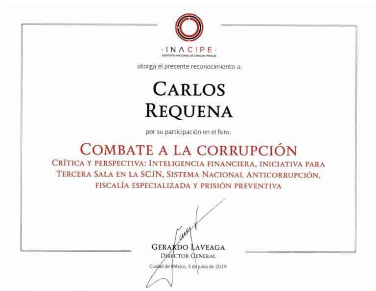 Foro Combate a la Corrupción – INACIPE – Abogado Carlos Requena